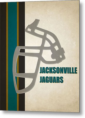 Retro Jaguars Art Metal Print by Joe Hamilton
