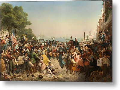 Return Of The 69th Irish Regiment From The 1st Battle Of Bull Run Metal Print by Mountain Dreams