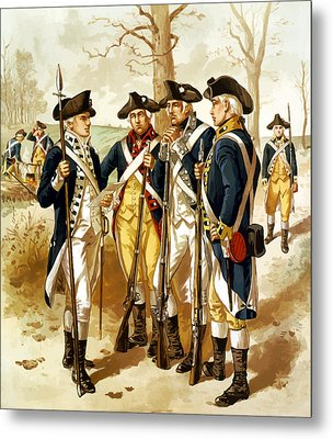 Revolutionary War Infantry Metal Print by War Is Hell Store