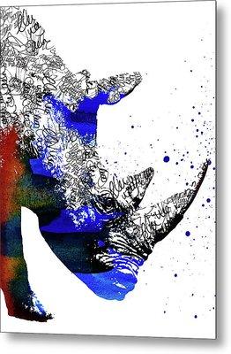 Rhino Metal Print by Mihaela Pater