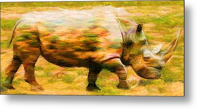 Rhinocerace Metal Print by Caito Junqueira