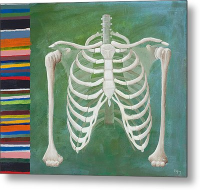 Ribbing  Metal Print by Sara Young