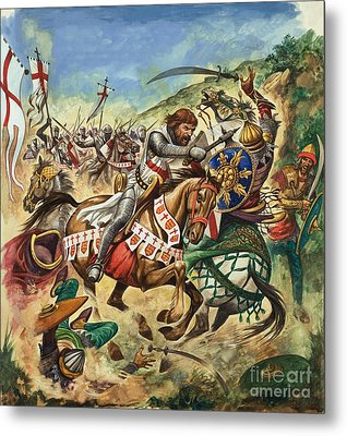 Richard The Lionheart During The Crusades Metal Print by Peter Jackson