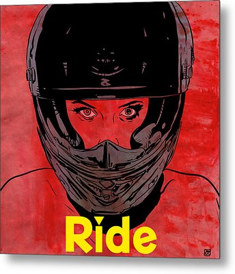 Ride / Text Metal Print by Giuseppe Cristiano
