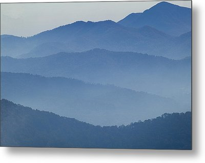 Ridgelines Great Smoky Mountains Metal Print by Rich Franco