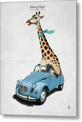Riding High Metal Print by Rob Snow