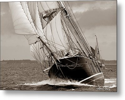 Riding The Wind -sepia Metal Print by Robert Lacy