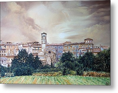 Rieti Panoramic Metal Print by Michel Angelo Rossi