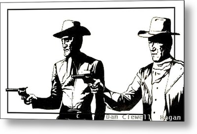 Right Handed Justice Metal Print by Dan Clewell