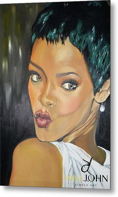 Rihanna Kiss Metal Print by Zalika Ledeatte- Williams