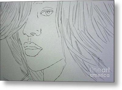 Rihanna Metal Print by Kristen Diefenbach