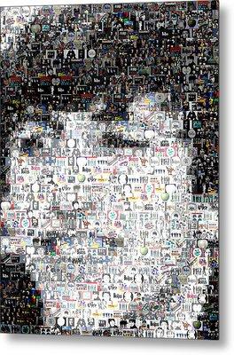 Ringo Starr Beatles Mosaic Metal Print by Paul Van Scott