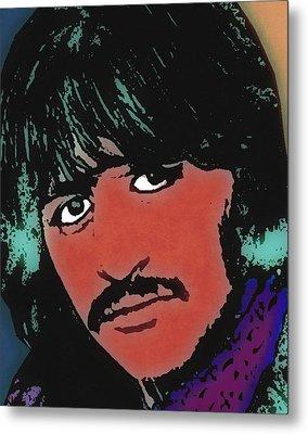 Ringo Starr-coloured Metal Print by Otis Porritt