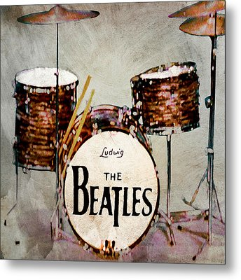 Ringo's Drums Metal Print by Bill Cannon