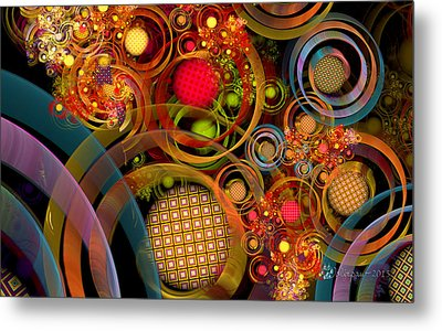 Rings Around The Bubbles Metal Print by Peggi Wolfe