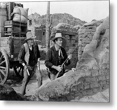 Rio Bravo, Walter Brennan, John Wayne Metal Print by Everett