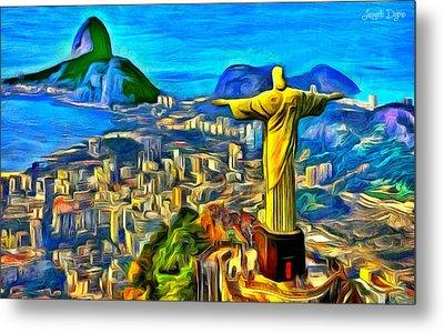 Rio De Janeiro - Da Metal Print by Leonardo Digenio