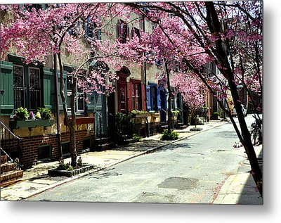 Rittenhouse Square Neighborhood Metal Print by Andrew Dinh