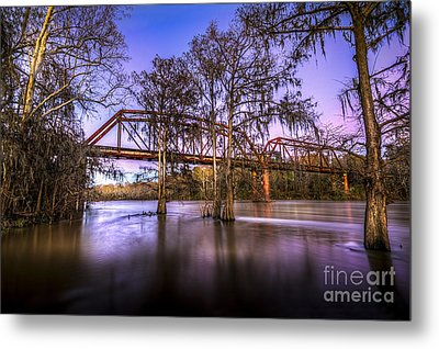 River Bridge Metal Print by Marvin Spates