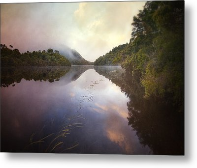 River Fire  Metal Print by Amy Weiss