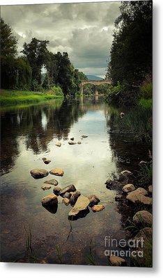 River Landscape Metal Print by Carlos Caetano