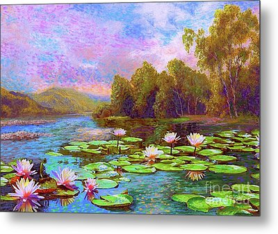 The Wonder Of Water Lilies Metal Print by Jane Small