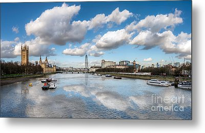 River Thames London Metal Print by Adrian Evans