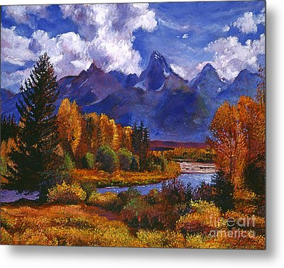 River Valley Metal Print by David Lloyd Glover