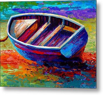 Riviera Boat IIi Metal Print by Marion Rose