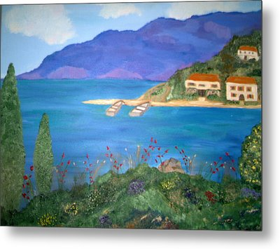 Riviera Remembered Metal Print by Alanna Hug-McAnnally
