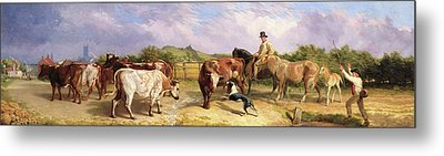 Road To Gloucester Fair Metal Print by Briton Riviere