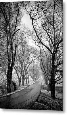 Road To Meems Bottom Bridge Metal Print by Williams-Cairns Photography LLC