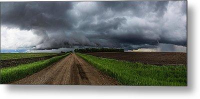 Road To Nowhere - Tornado Metal Print by Aaron J Groen