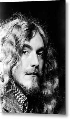 Robert Plant Led Zeppelin 1971 Metal Print by Chris Walter