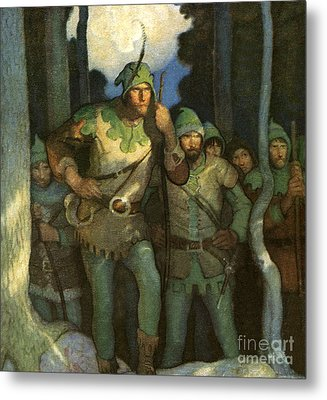 Robin Hood And His Merry Men Metal Print by Newell Convers Wyeth