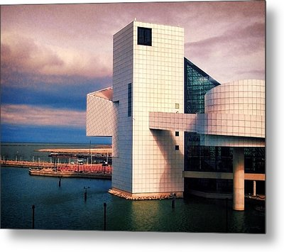 Rock And Roll Hall Of Fame Metal Print by Shawna Rowe