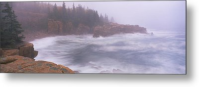 Rock Formations At The Coast, Mount Metal Print by Panoramic Images