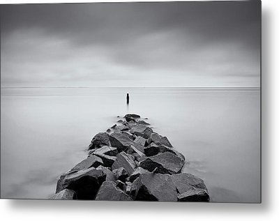 Rock Jetty At The Chesapeake Bay Metal Print by MariAnne MacGregor