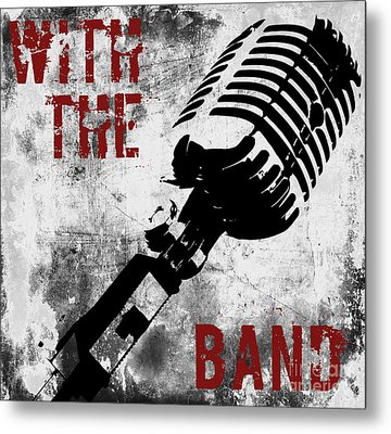 Rock N Roll Microphone  Metal Print by Mindy Sommers