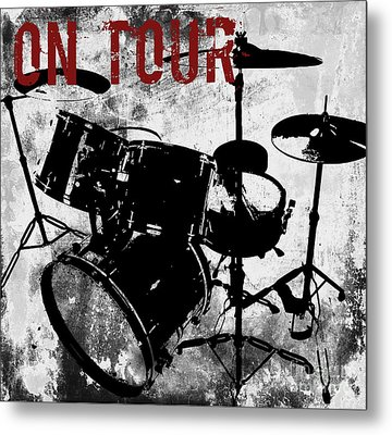 Rock N Roll Percussion  Metal Print by Mindy Sommers