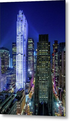Metal Print featuring the photograph Rockefeller At Night by M G Whittingham