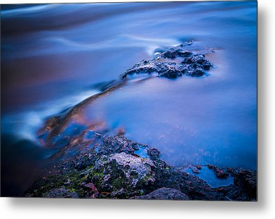 Rocks And Water Metal Print by Marvin Spates