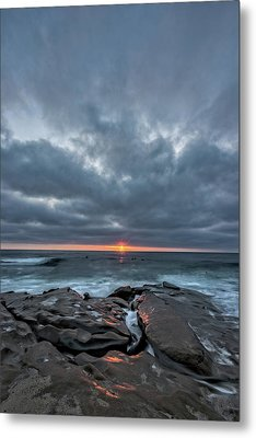 Rocks On Fire Metal Print by Peter Tellone