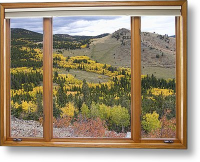 Rocky Mountain Autumn Picture Window View Metal Print by James BO  Insogna