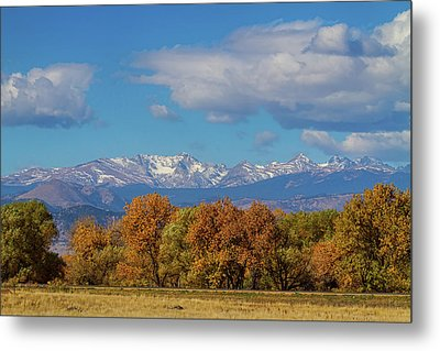 Rocky Mountain Front Range Colorful View Metal Print by James BO Insogna