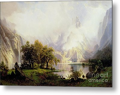 Rocky Mountain Landscape Metal Print by Albert Bierstadt