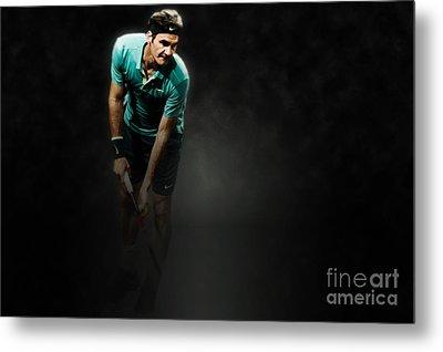 Rodger Federer Metal Print by Yordan Rusev