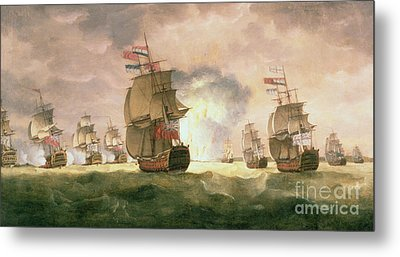 Rodney's Victory Off Cape St. Vincent  Metal Print by Thomas Luny