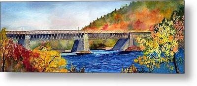 Roebling Aqueduct Bridge Metal Print by Paul Temple