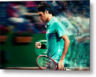 Roger Federer Metal Print by Yordan Rusev